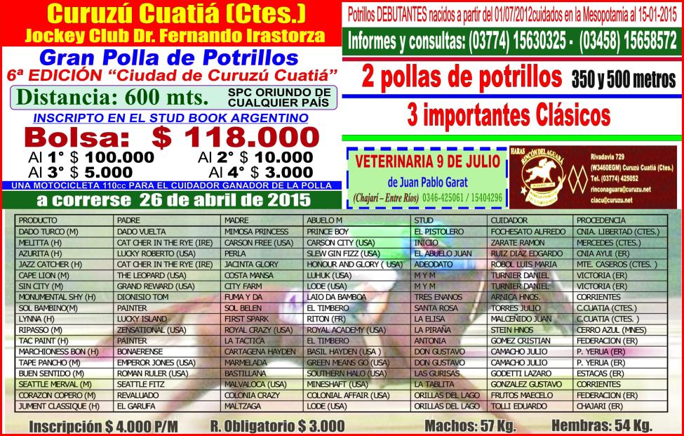 C. CUATIA - POLLA 2015 - 26.04.2015