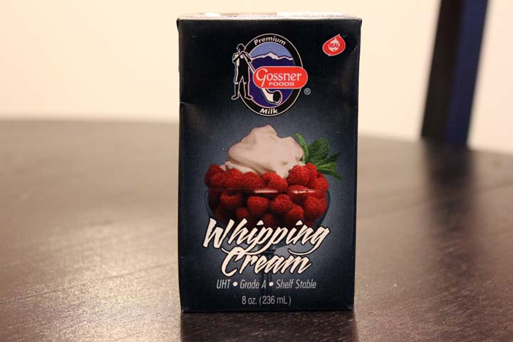 Food Storage For Dinner Shelf Stable Whipping Cream Toasted Almond