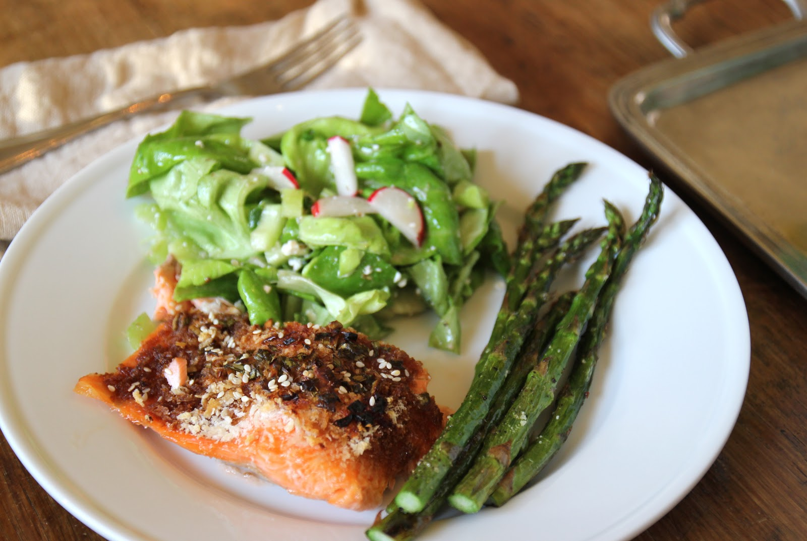 Jenny Steffens Hobick: Panko Crusted Salmon in a Brown ...