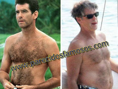 Pierce Brosnan Famosos antes y después