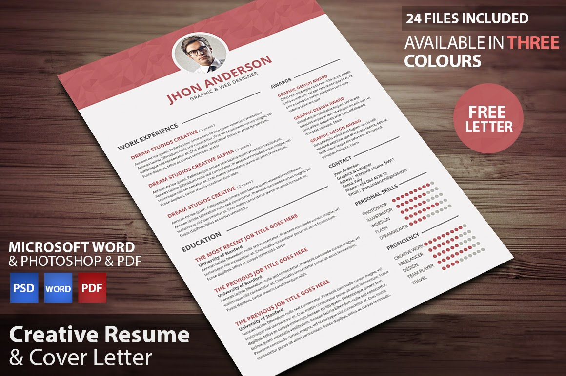 Creative Resume (updated in PSD, DOC, DOCX,PDF ) | Free PSD Files ...