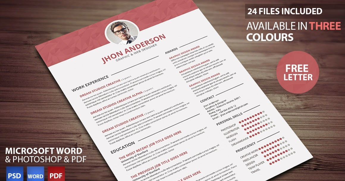 creative resume updated in psd doc docx pdf free psd files