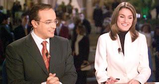 Alfredo Urdaci y Letizia Ortiz, cuando presentaban juntos el TD