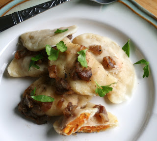 Roasted Sweet Potato Perogies