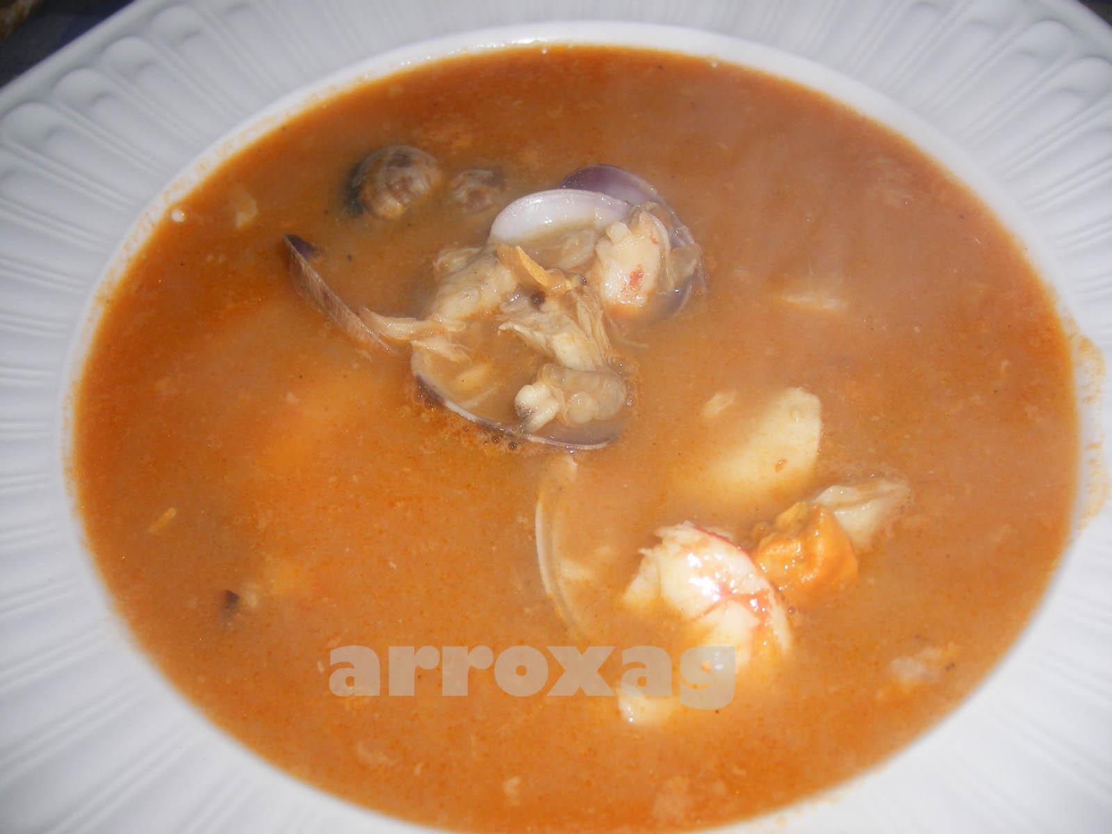 Cocina vasca arroxag sopa de pescado y marisco - Sopa de marisco y pescado ...