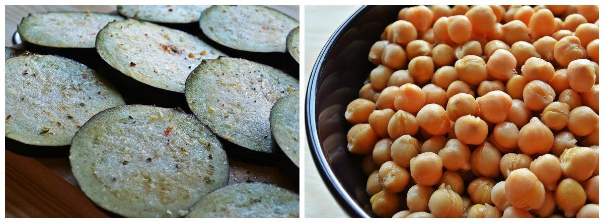 Pasta z ciecierzycy i bakłażana - składniki
