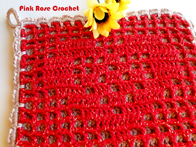 The Left Side of Crochet: Heart Shaped Potholder