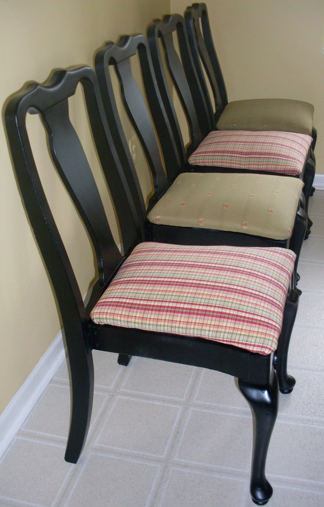 Your chic nest set of four upcycled dining chairs very chic