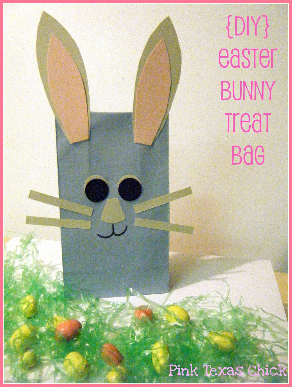 Easter bunny treat bags craft diy i made these bags pretty much the same way i made my halloween treat bags i bought the small pale blue gift sacks from michaels with my 40 off coupon negle Images