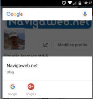ricerche da ovunque su Android