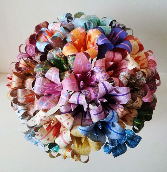 Origami Maniacs: Origami Lily Topiary Origami Flower Bouquet Instructions