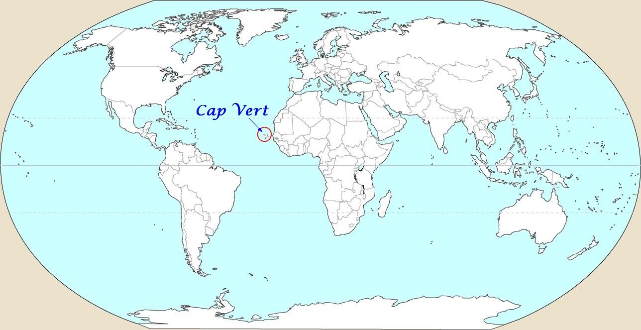 Cap vert carte du monde voyages cartes for Ou se promener dans les yvelines