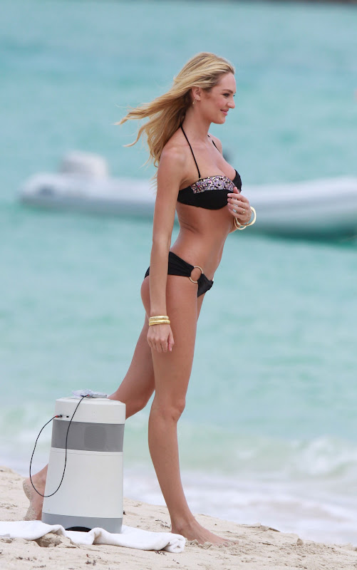 Candice Swanepoel – Victoria's Secret Bikini Photoshoot Candids in St. Barth