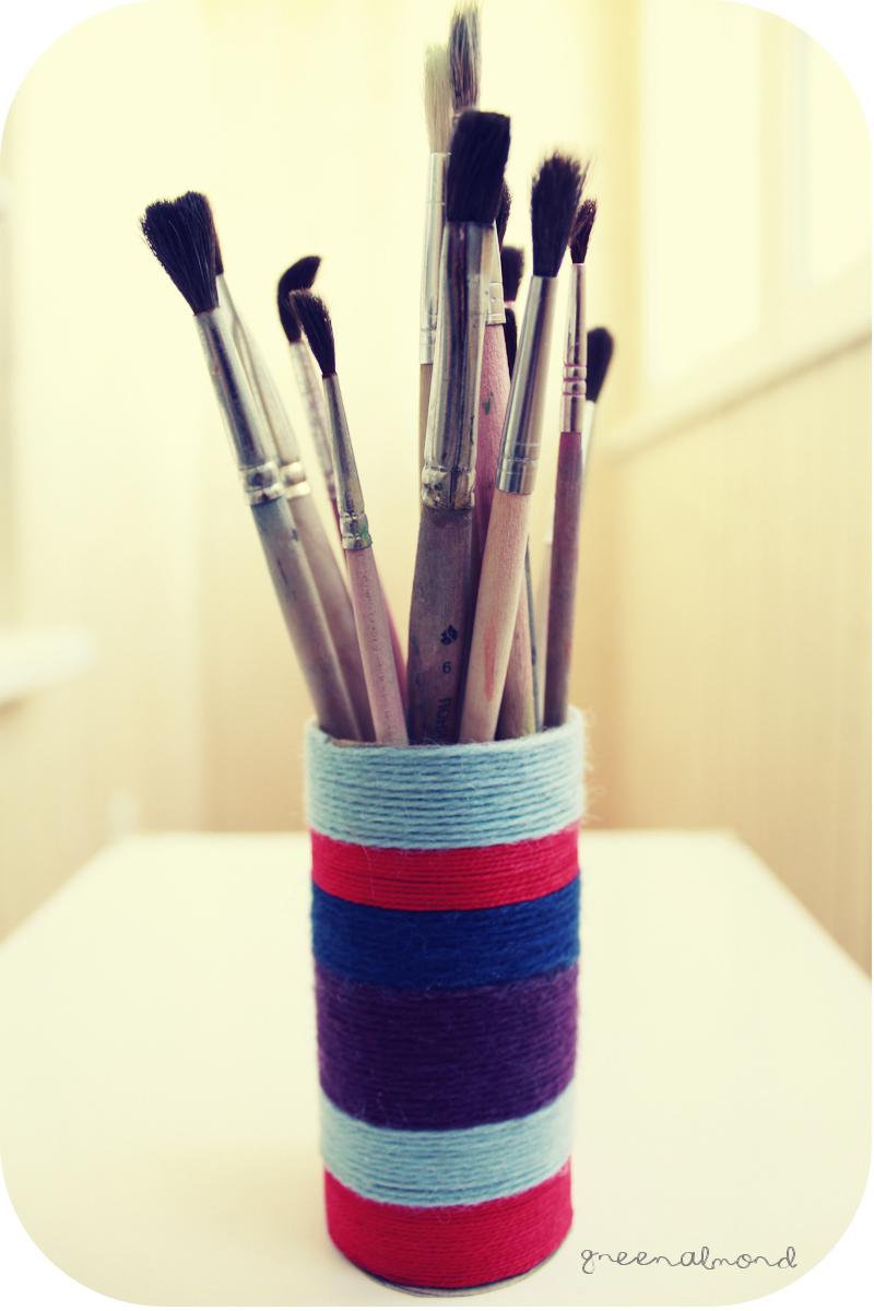 Стаканчик для карандашей из карандашей из