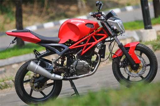 Modification Honda Mega Pro Streetfighter