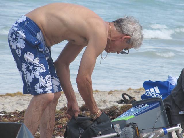miami beach,old man,old