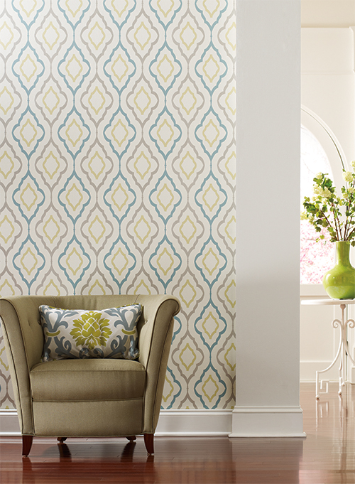 Wallcoverings For Less Candice Olson Geometric Wallpaper