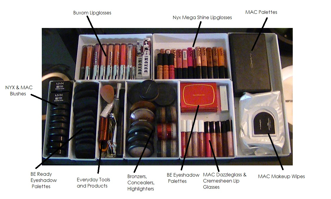 My Makeup Vanity U0026 Storage