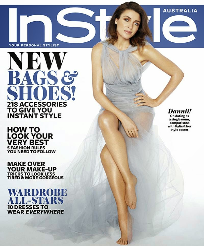 Dannii Minogue covers InStyle Magazine Australia October 2014