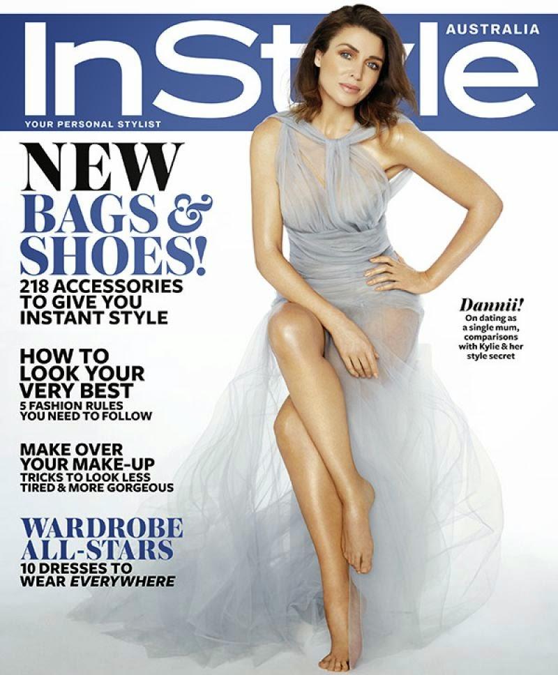 Dannii Minogue covers InStyle Magazine Australia October 2014