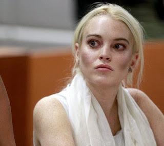 Lindsay Lohan dressed for halloween