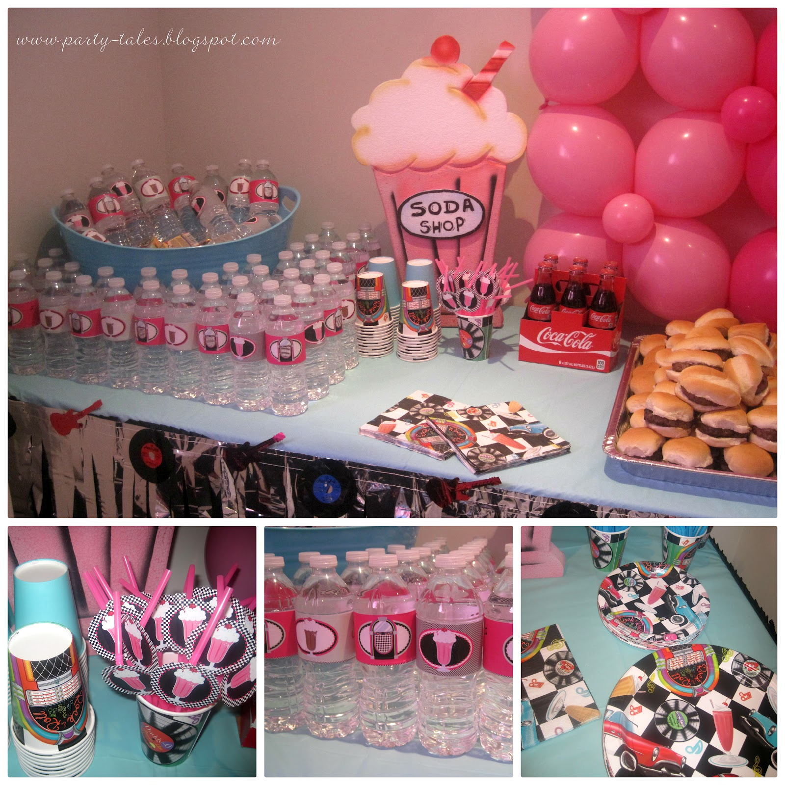 Party tales birthday party 50 39 s diner sock hop part 2 for 50s party decoration