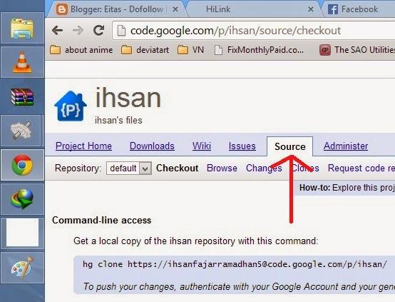 Cara upload file ke google code menggunakan browser