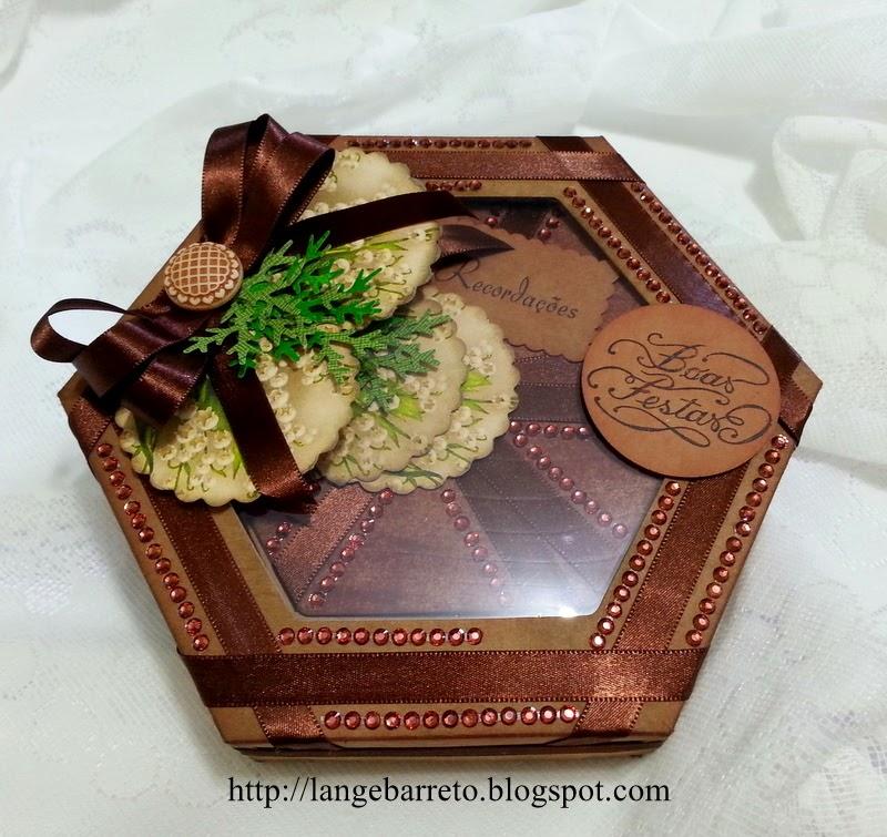 Caixa decorada - mini álbum