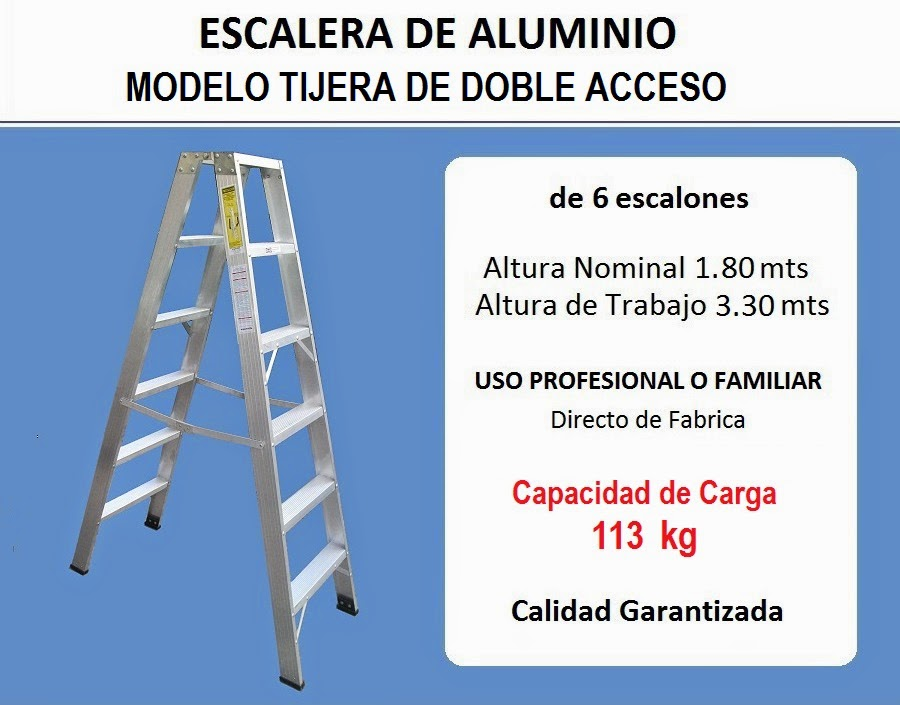 Reglas escaluminio escalera aluminio tipo pintor 6 for Escalera tipo u