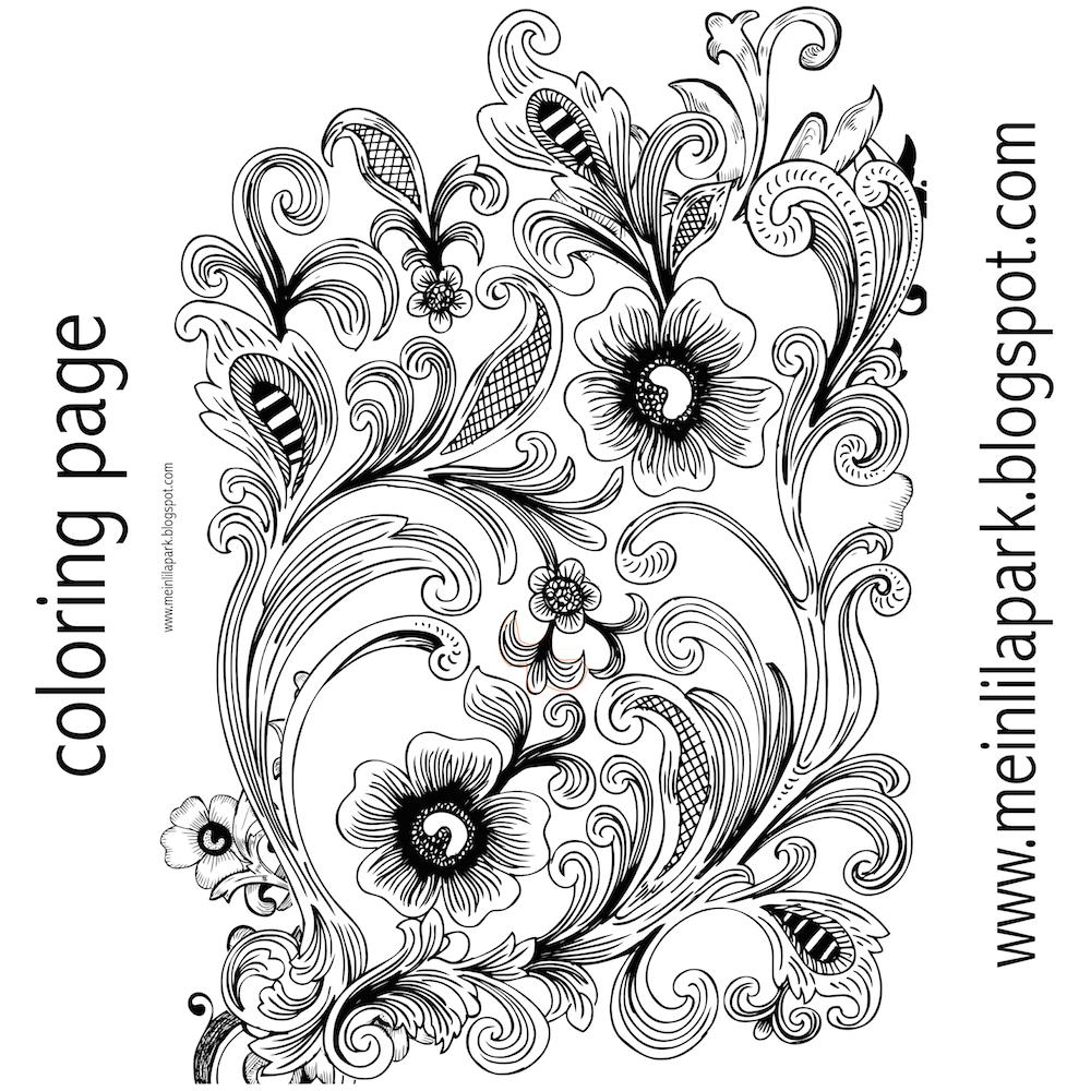 Free printable floral coloring page - Ausmalbild - freebie ...