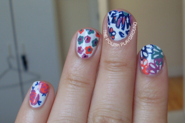 Multi Flower Nails