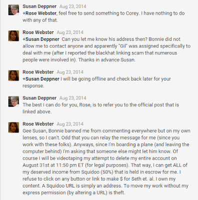 Susan Deppner refuses to let Corey Brown my wishes (Rose Webster)