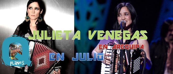 Julieta Venegas en Arequipa - precio de entradas (05 Julio 2013)