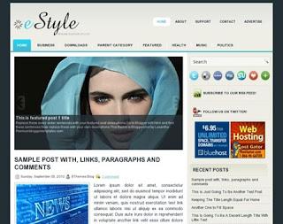 eStyle Blogger Template