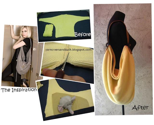 a diy inspired by the Iggy Extra Long Hobo Handbag