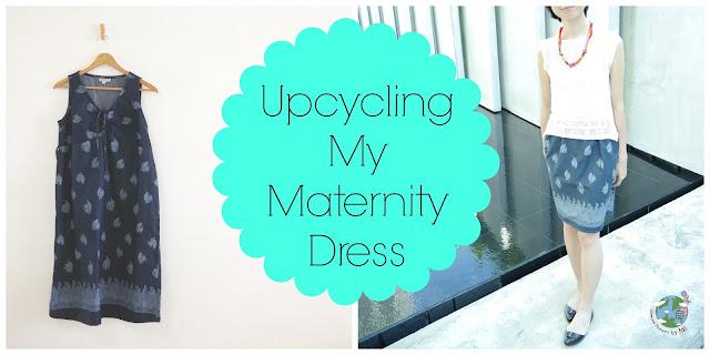 upcycle maternity dress