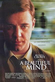 映画 「A Beautiful Mind」:  シゾフレ病患者 (ノーベル賞数学者) に関するドラマ