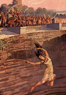 Saut de la foi ? ou bien Les Mayas les poussaient ?