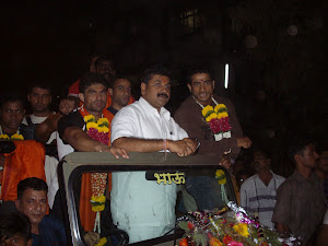 Shri Sachin.Ahir(Minister of housing,Maharashtra State Govt)  in Carnival procession..