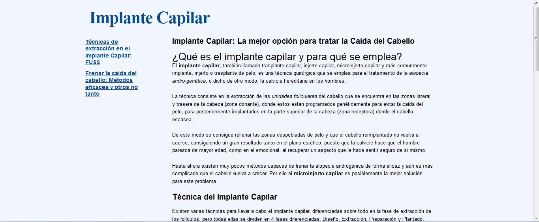Info implante capilar