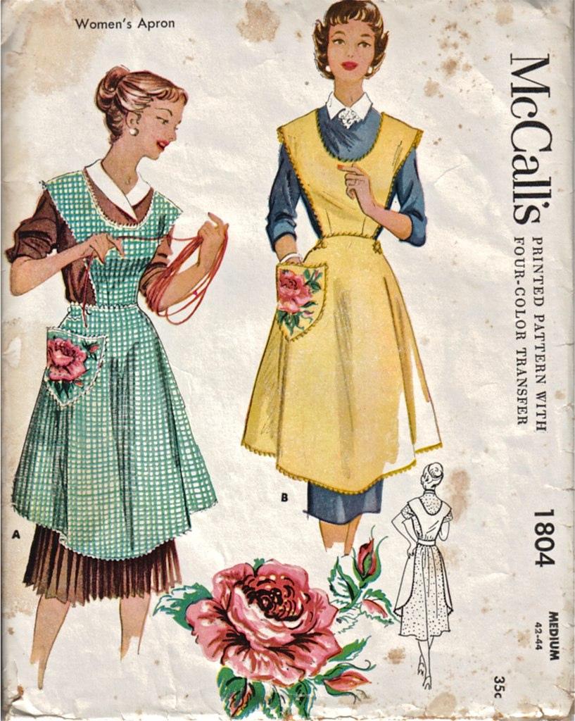 Dancing Bumblebee Cottage: Original Vintage Apron Sewing Pattern ...