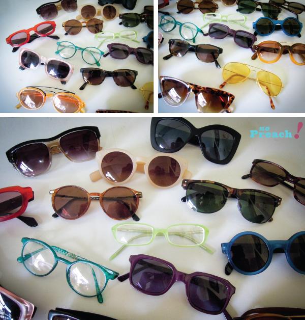 Coleção de óculos escuros - sunglasses collection