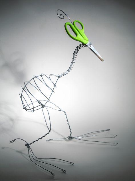 птица из проволки и ножниц