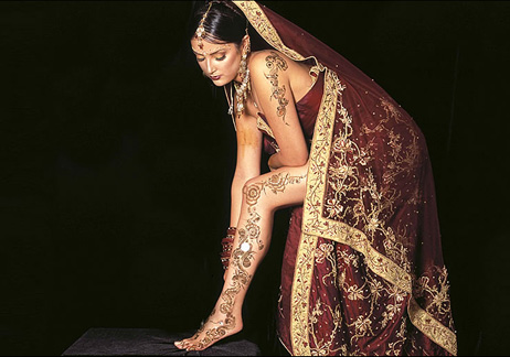 henna body paintings