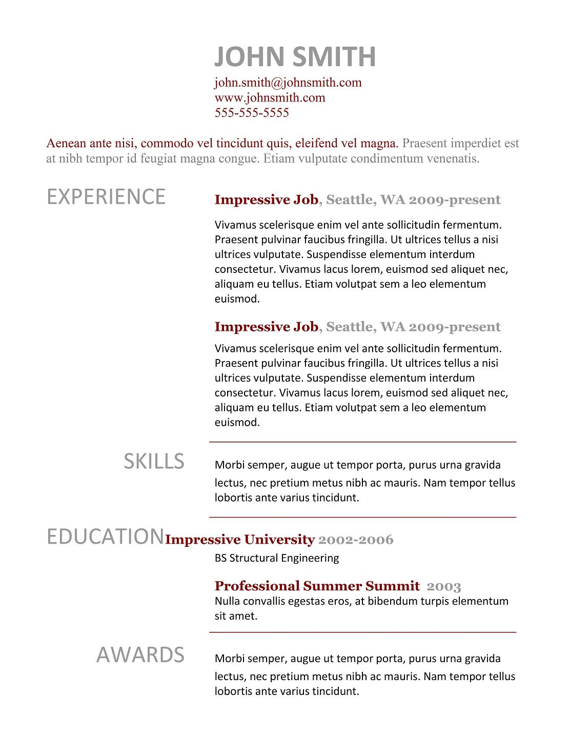 how to prepare a curriculum vitae templates best cv 3 doc