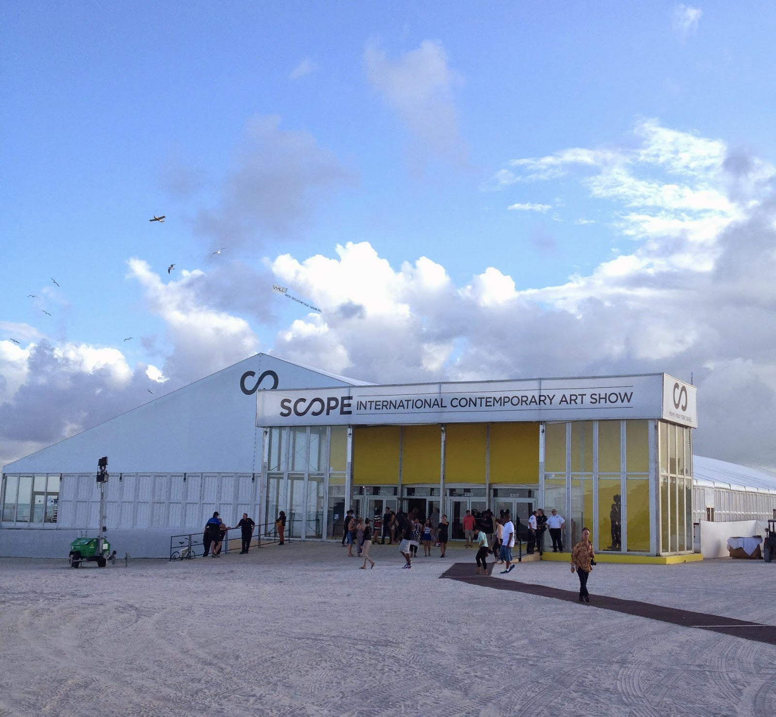 Scope Art Fair's Pavilion on the beach
