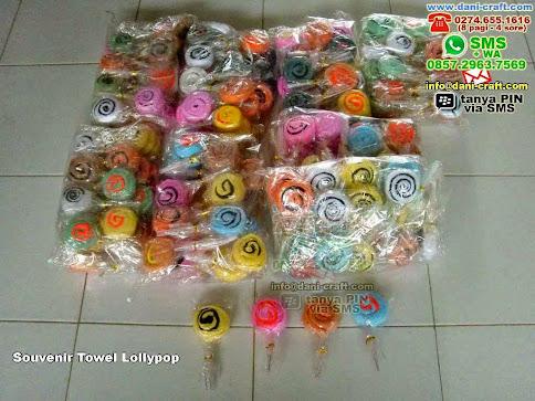 Souvenir Towel Lollypop Handuk Bandung