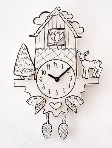 Of you, I am fond: Paper Cuckoo Clock