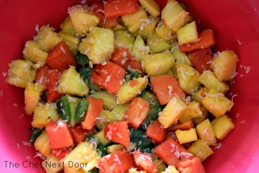 Tropical Fruit Salad + Good Cook Pro-Freshionals Cut Fruit Bowl ...