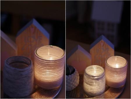 zimowe świeczniki ze słoika
